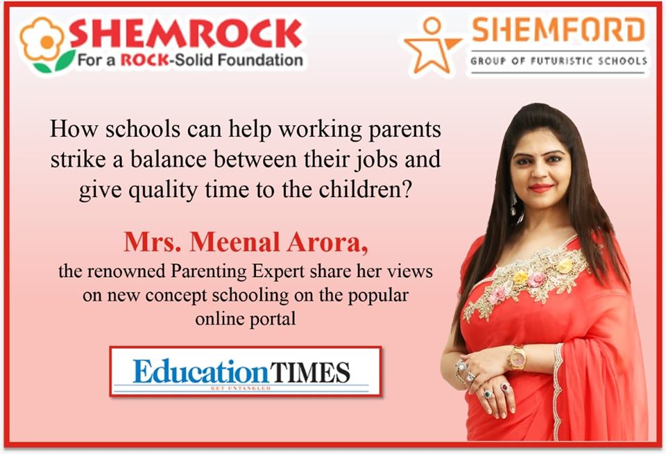 How schools can help working parents strike a balance between their jobs and give quality time to the children